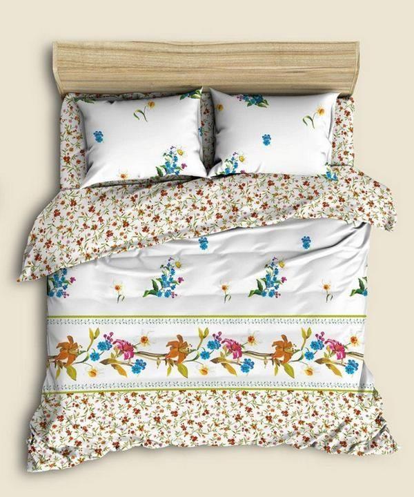 """Фото 3 - Комплект льняного постельного белья """"Флора"""", семейный."""