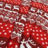 "Фото 6 - Льняная  ткань ""Олени"" красная."