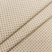Фото 21 - Льняная ткань в мелкий серый горох (фон суровый).