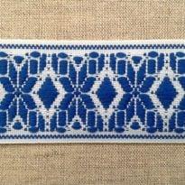 Фото 14 - ЛЕНТА ОТДЕЛОЧНАЯ белый с голубым 37мм.