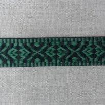 ЛЕНТА ОТДЕЛОЧНАЯ черный с зеленым 19мм