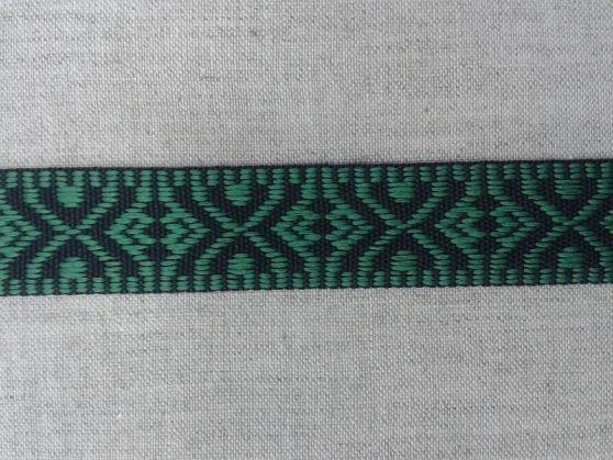 Фото 3 - ЛЕНТА ОТДЕЛОЧНАЯ черный с зеленым 19мм.