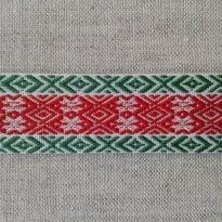 Фото 13 - ЛЕНТА ОТДЕЛОЧНАЯ зеленая с красным 20 мм.