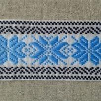 Фото 17 - ЛЕНТА ОТДЕЛОЧНАЯ ЖАККАРД голубой с синим,50мм.