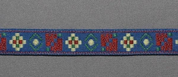 Фото 3 - Лента жаккард ш.1,5 см. синий.