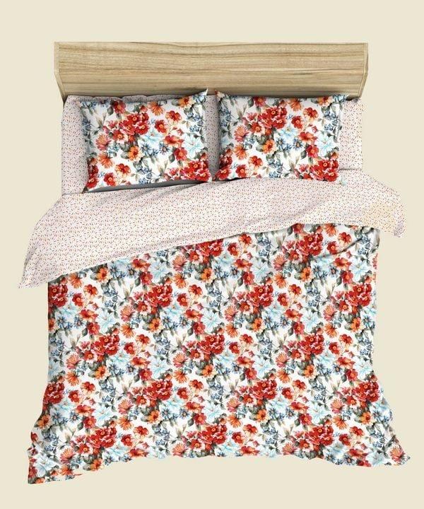 """Фото 3 - Комплект льняного постельного белья """"Летнее настроение"""", 2 сп с европростыней."""