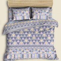 """Фото 8 - Комплект льняного  постельного белья """"Пэчворк"""" 2сп."""