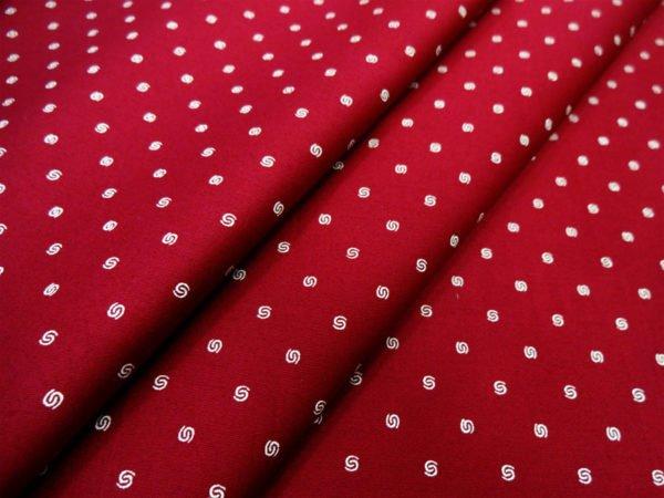 Фото 3 - Сатин блузочный  (темно-красный).
