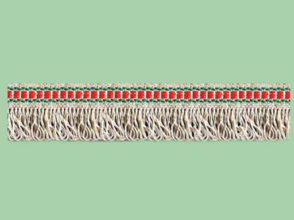 Тесьма  отделочная  с бахромой (красный/зеленый)