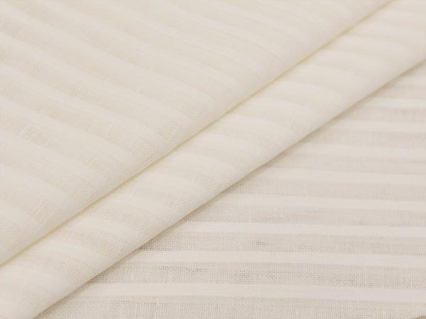 Фото 3 - Ткань декоративная, белая, 260см узкая полоска.
