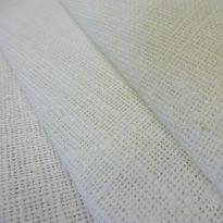 Фото 33 - Ткань декоративная рогожка льняная, белая.