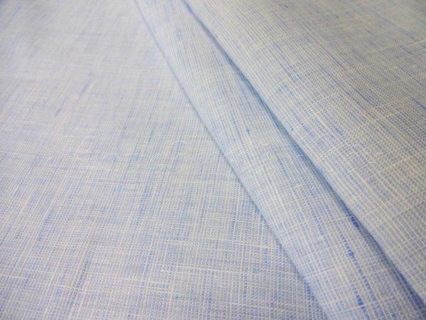 Ткань голубая пестротканная, лён 100%