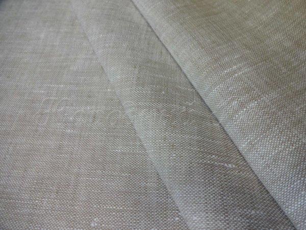 Ткань льняная костюмная суровая, лён 100%