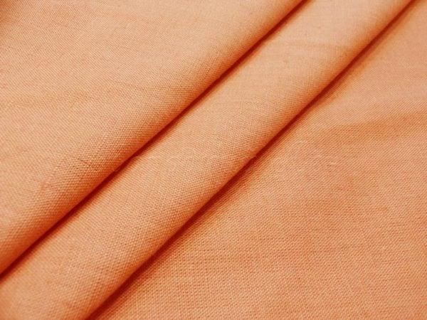 Фото 3 - Ткань льняная костюмная светлый  терракот.