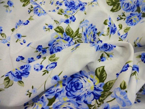 """Фото 3 - Ткань льняная  набивная """"Венецианская роза""""."""