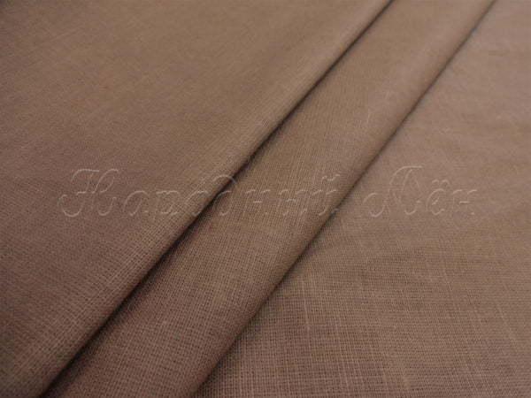 Фото 3 - Ткань льняная  коричневая.