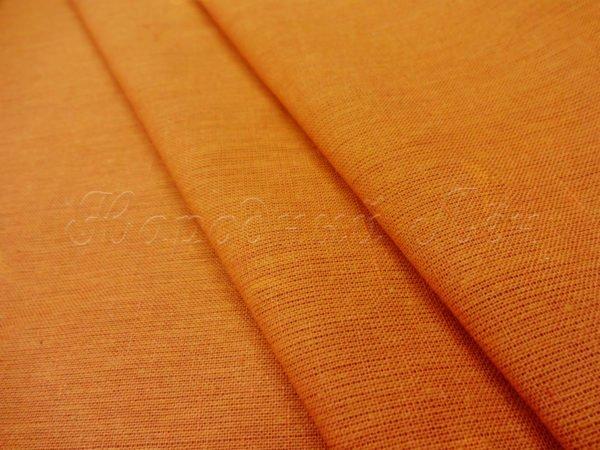 Фото 3 - Ткань льняная цвета карри.