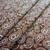 Фото 6 - Ткань плательная  белые огурцы на коричневом.