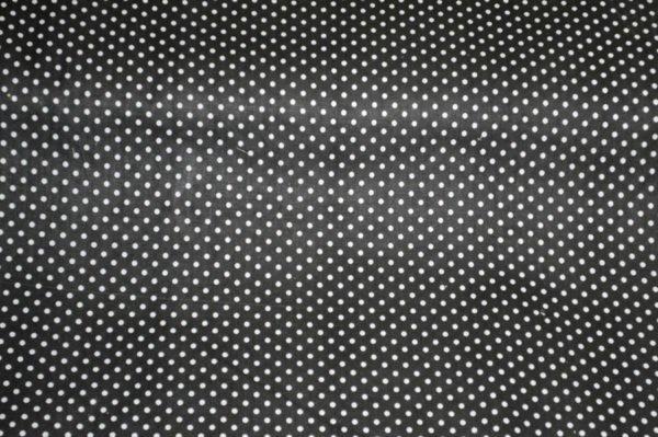 Фото 3 - Ткань плательная белый горох на  черном.