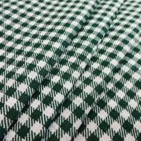 Фото 19 - Ткань плательная мелкая зеленая клетка.