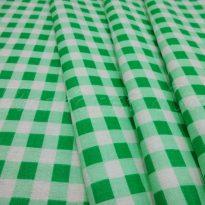 Фото 14 - Ткань плательная, зеленая  клетка.