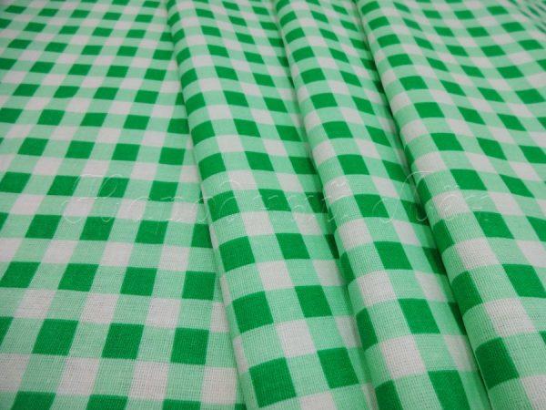 Фото 3 - Ткань плательная, зеленая  клетка.
