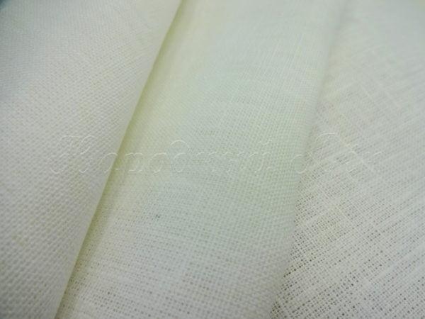 Ткань скатертная белая, лен 100%