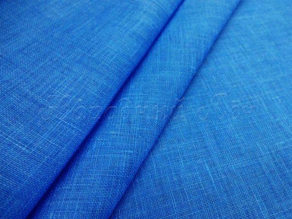 Фото 3 - Вуаль льняная, тёмно-голубая.