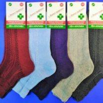 Носки женские медицинские, лен + крапива слабая резинка, цветные