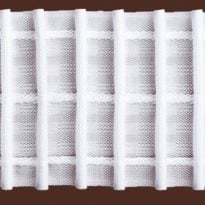 Фото 3 - ЛЕНТА ДЛЯ ШТОР белая 65 мм, параллельная сборка 1:2,5.