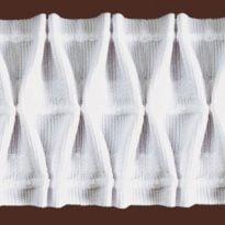 Фото 4 - ЛЕНТА ДЛЯ ШТОР белый 56мм, вафельная сборка 1:2,3.