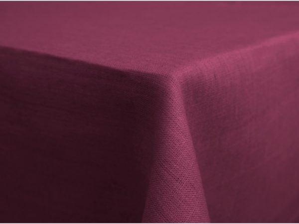 Фото 3 - Скатерть 100% лен цв. фиолетовый 150*250 см..