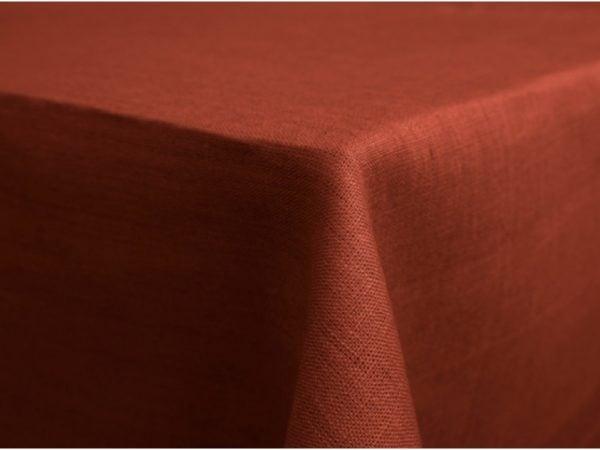 Фото 3 - Скатерть 100% лен цвет терракот 150*120.