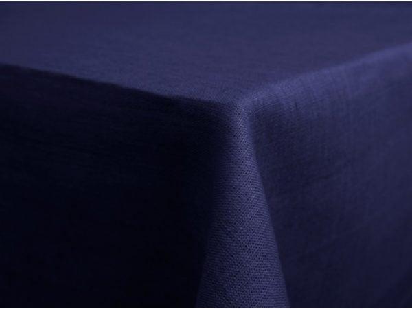 Скатерть 100% лен цв. синий