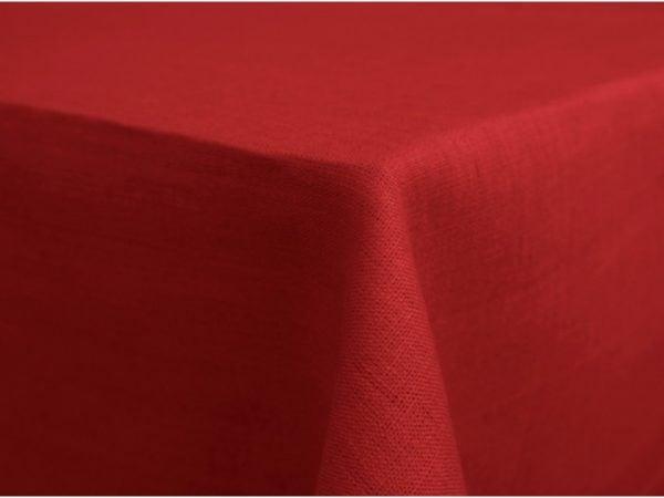 Фото 3 - Скатерть 100% лен цвет красный 150*175.