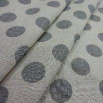 Фото 7 - Льняная ткань в серый горох (фон суровый).