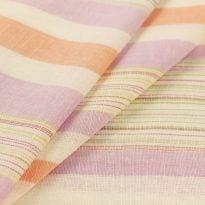 Льняная ткань для постельного белья шир 1.8м в полоску