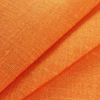 Ткань декоративная рогожка льняная, терракот