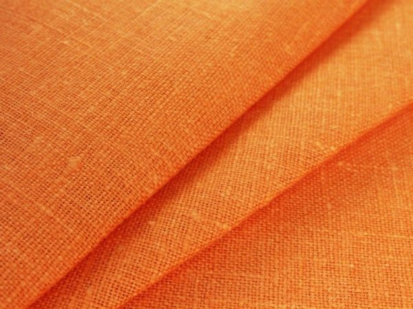 Фото 3 - Ткань декоративная рогожка льняная, терракот.