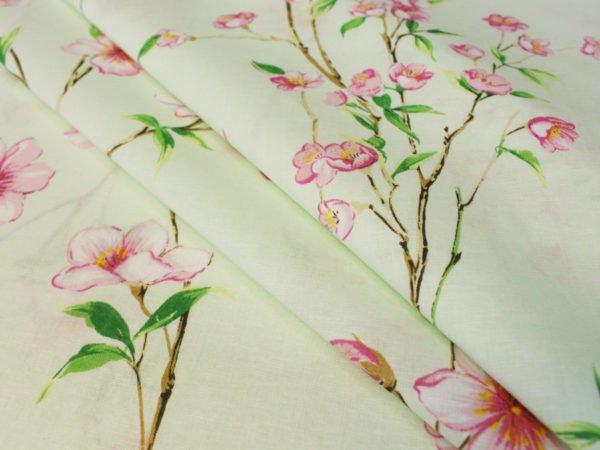 """Фото 3 - Ткань для постельного белья ГОСТ шир 150 см """"Ветка сакуры""""."""
