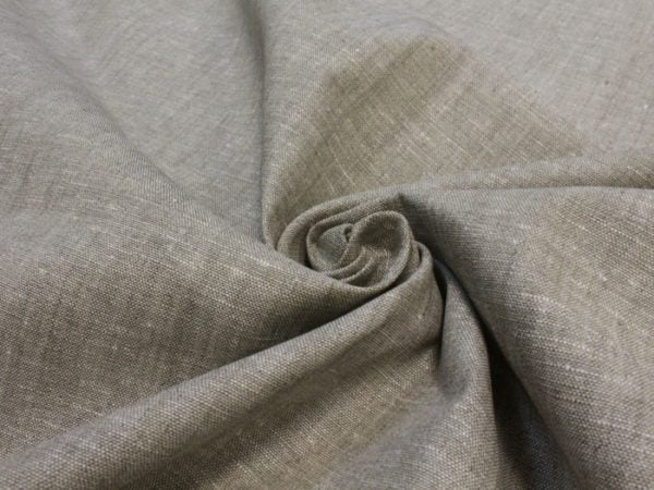 Фото 5 - Льняная ткань для постельного белья серая меланжевая, ширина 220 см.