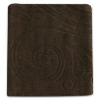 """Фото 8 - Полотенце махровое """"Завитки"""", цвет коричневый."""