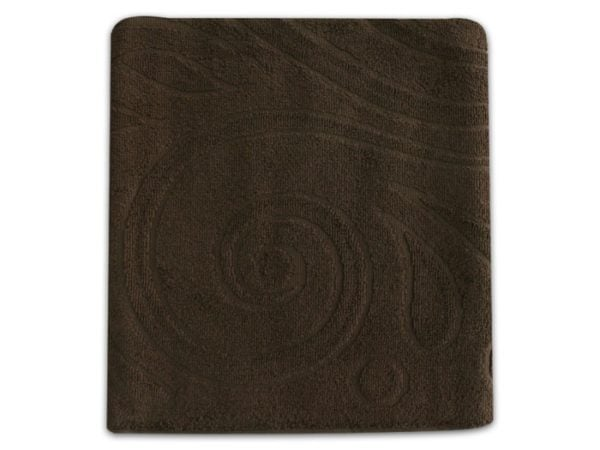 """Фото 3 - Полотенце махровое """"Завитки"""", цвет коричневый."""