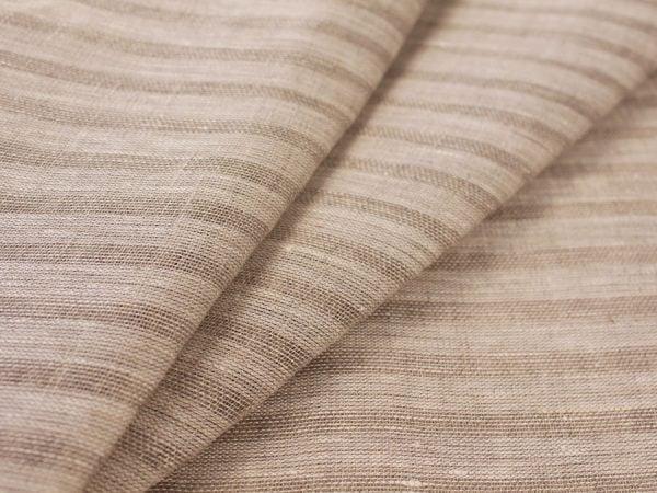 Фото 3 - Льняная вуаль интерьерная вареная цвет серый ширина 150см.