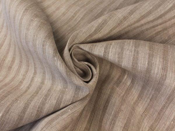 Фото 5 - Льняная вуаль интерьерная вареная цвет серый ширина 150см.