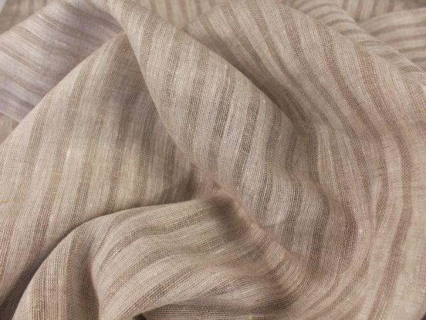 Фото 9 - Льняная вуаль интерьерная вареная цвет серый ширина 150см.