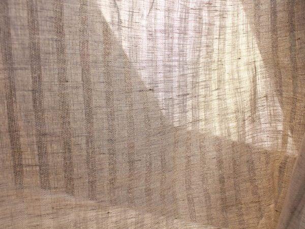 Фото 7 - Льняная вуаль интерьерная вареная цвет серый ширина 150см.