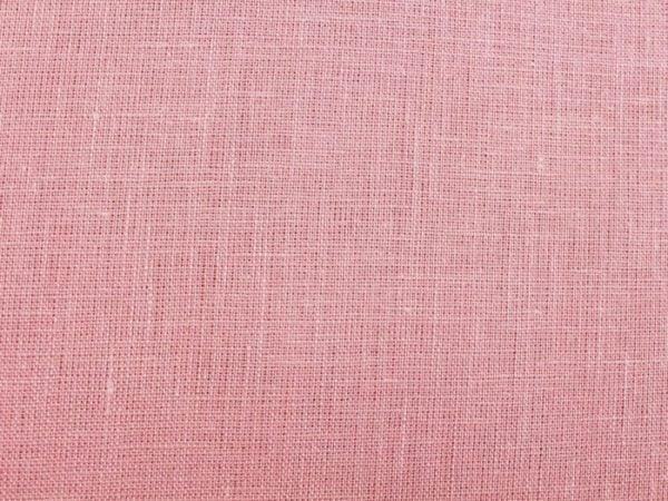 Фото 5 - Ткань льняная нежно-розовая ширина 220 см лен 100%.