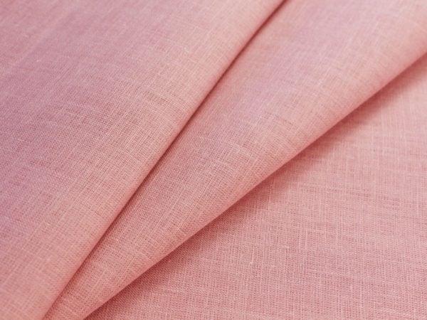 Фото 3 - Ткань льняная нежно-розовая ширина 220 см лен 100%.