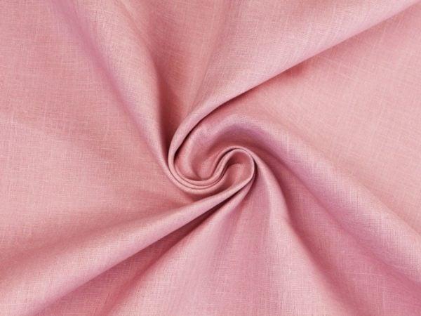Фото 6 - Ткань льняная нежно-розовая ширина 220 см лен 100%.